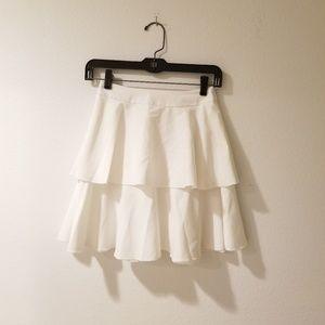 Aqua white tiered mini skirt